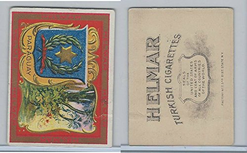 T107 Helmar, State Seals & National Coats of Arms, 1910, Paraguay