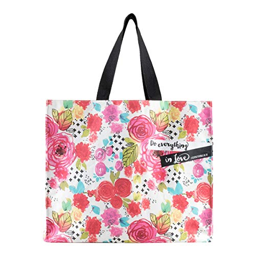 Dayspring Illustrated Faith - Do Everything in Love - Canvas Tote Bag