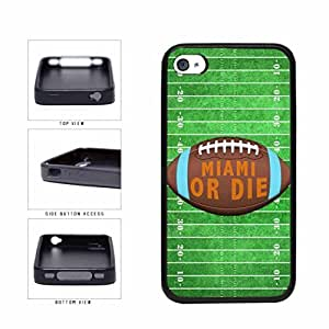 Miami or Die Football Field TPU RUBBER SILICONE Phone Case Back Cover Apple iPhone 4 4s