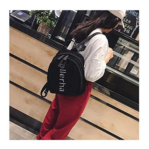 per Borsa nero Back Pack Colore di CarrieyukiCarrie scuola Nero Women Borsa donna la casual Zaino elegante viaggio 0zRq81
