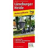 Lüneburger Heide: Motorradkarte mit Tourenvorschlägen, Ausflugszielen, Einkehr- & Freizeittipps, wetterfest, reissfest, abwischbar, GPS-genau. 1:200000