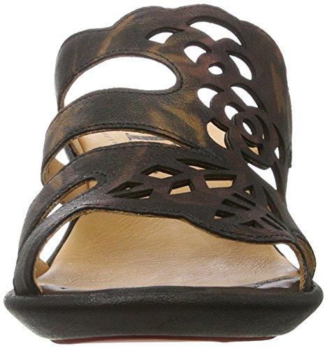 48 Kombi Sandals Wedge Nanet Braun Think Heels Cafe WoMen agSwaqHC