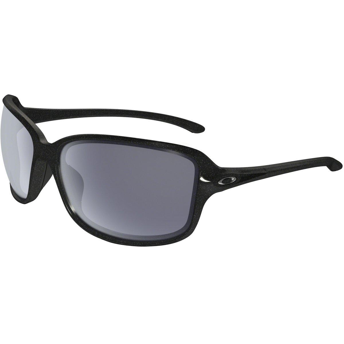 Oakley Women's Cohort Rectangular Sunglasses, Metallic Black, 61 mm