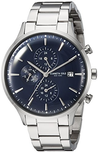 Kenneth Cole New York Men's Quartz Stainless Steel Casual Watch, Color:Silver-Toned (Model: KC15181004)