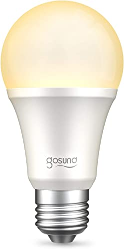 Gosund Smart Light Bulb Works with Alexa Google Home, WiFi LED Bulb, E26 Dimmable Bulb A19 No-Hub Required 2700K Warm White 8W Lights 75W Equivalent Lighting 1pack