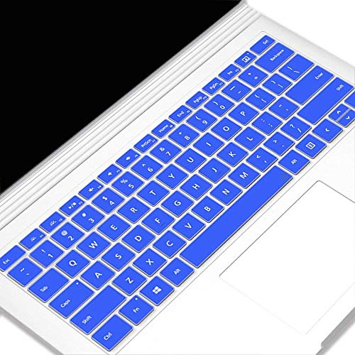 Heycase for Surface Book 2 15 Inch Keyboard Skin Cover,Protector Ultra Thin Silicone Compatible for Microsoft Surface Laptop (2017 Released) & Surface Book 2 15 Inch,Transparent Blue