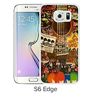Durable and Fashionable Case Design with The Beatles Hippie Guitar Samsung Galaxy S6 Edge White Phone Case