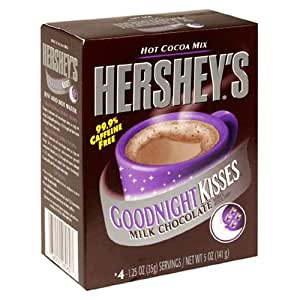 Hershey's Hot Cocoa, Goodnight Kisses, 4-Count Boxes (Pack of 12)