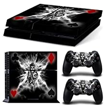 Ps4 Playstation 4 Console Skin Decal Sticker SOA Skull + 2 Controller Skins Set