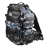 19″ 2400cu.in. NexPak USA Tactical Hunting Camping Hiking Backpack ML007 DMBK Digital Camouflage (Navy Blue) For Sale
