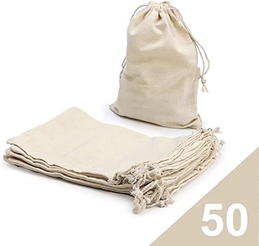 RUBY - 50 Bolsas de algodón con cordón Ajustable, Bolsa de Regalo ...
