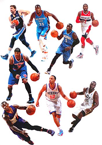 FATHEAD Complete Set of 30 NBA Player Mini Vinyl Wall Graphics - 7'' INCH EACH - 1 Random Player Graphic From All 30 NBA Teams by FATHEAD