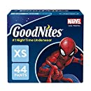 GoodNites Bedtime Bedwetting Underwear for Boys, XS, 44 Ct. (Packaging May Vary)