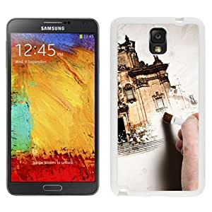 NEW Unique Custom Designed Samsung Galaxy Note 3 N900A N900V N900P N900T Phone Case With Hand Painting Old Building_White Phone Case