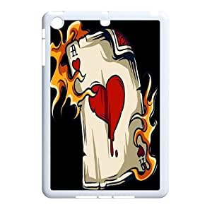 wugdiy Custom Case for iPad Mini with Personalized Design Fire Heart