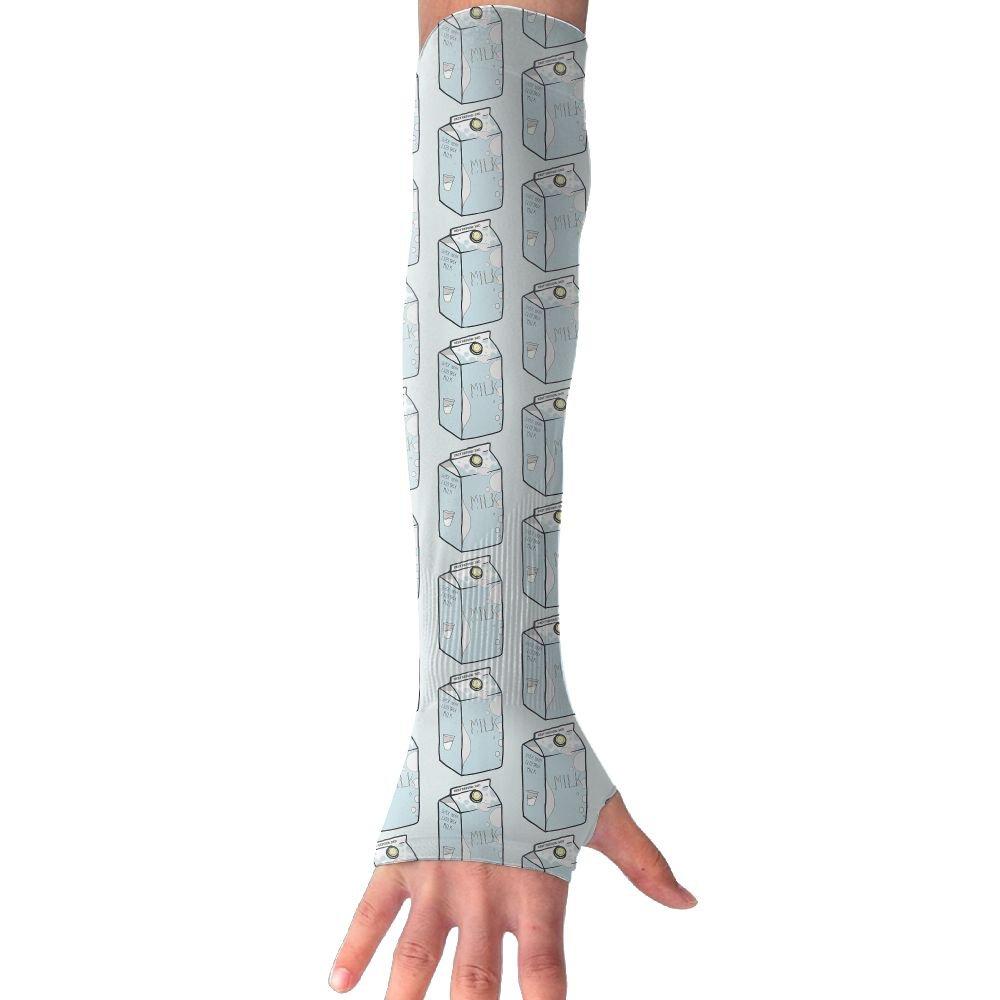 Unisex Milk Box Sunscreen Outdoor Travel Arm Warmer Long Sleeves Glove
