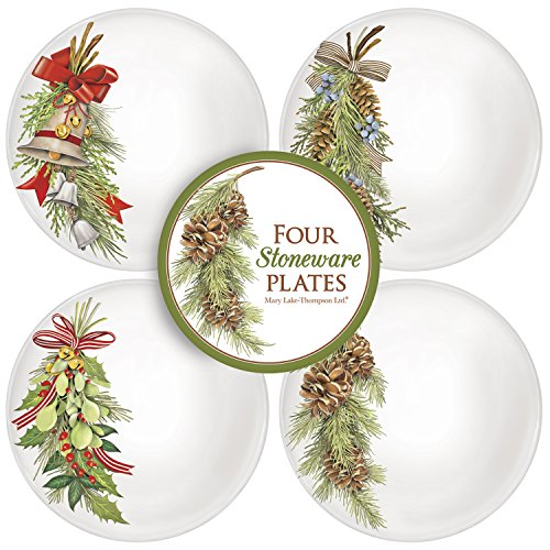 Assorted Branch Stoneware Plate Set by Mary Lake-Thompson Ltd.