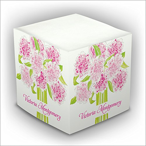 ick Memo Cube - Pink Bouquet - 2807_7 (Personalized Memo Cube)
