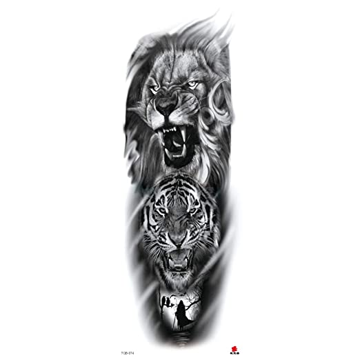 Handaxian Brazo Completo Tatuaje Tatuaje Tatuaje Brazo 3 Piezas ...