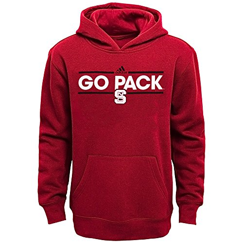 Outerstuff NC State Wolfpack NCAA Adidas Dassler Team Color Pullover Hoodie Fleece - Fleece Carolina Pullover Youth North
