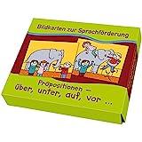 Bildkarten zur Sprachförderung: Präpositionen: über, unter, auf, vor