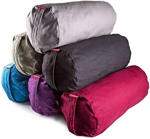 Peace Yoga® Zafu Meditation Yoga Cotton Cylinder Bolster Pillow Cushion - Choose your Color