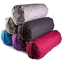 Peace YogaZafu Meditation Yoga Cotton Cylinder Bolster Pillow Cushion - Green