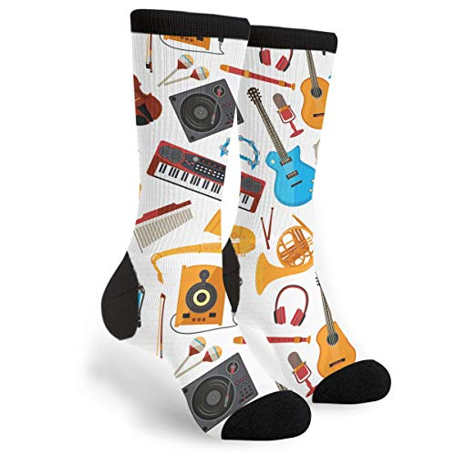 NGFF Speakers Amplifier Music Jazz Guitar Men Women Casual Crazy Funny Athletic Fancy Novelty Graphic Crew Tube Socks Moisture Wicking Gift