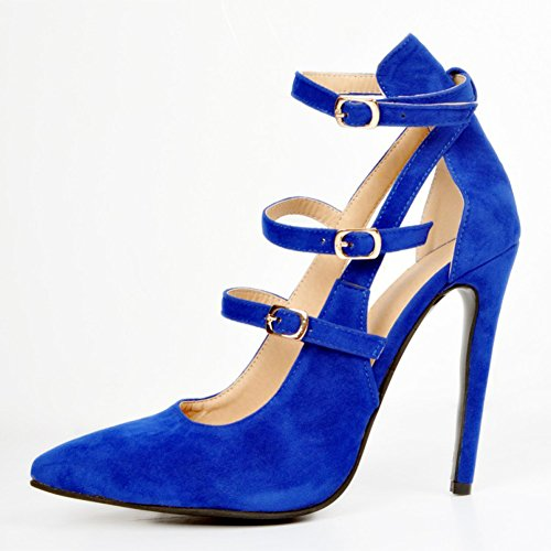 Hi Kolnoo top Bleu Femme Slippers rPPdqwY