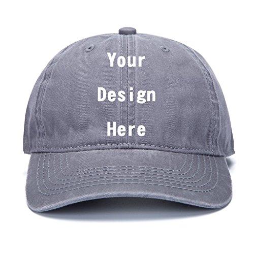 ts Personalized Customized Trucker Hats Unisex Baseball Caps Summer Cowboy Hats (Gray) ()