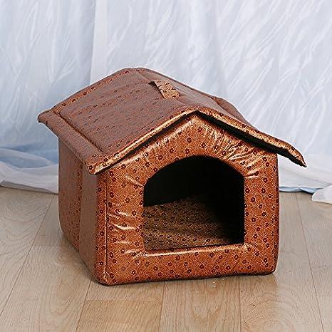 meelu Cute Pet diseño elegante cuatro estaciones de tamaño medio y pequeño mascota perro gato cama casa refugio: Amazon.es: Productos para mascotas