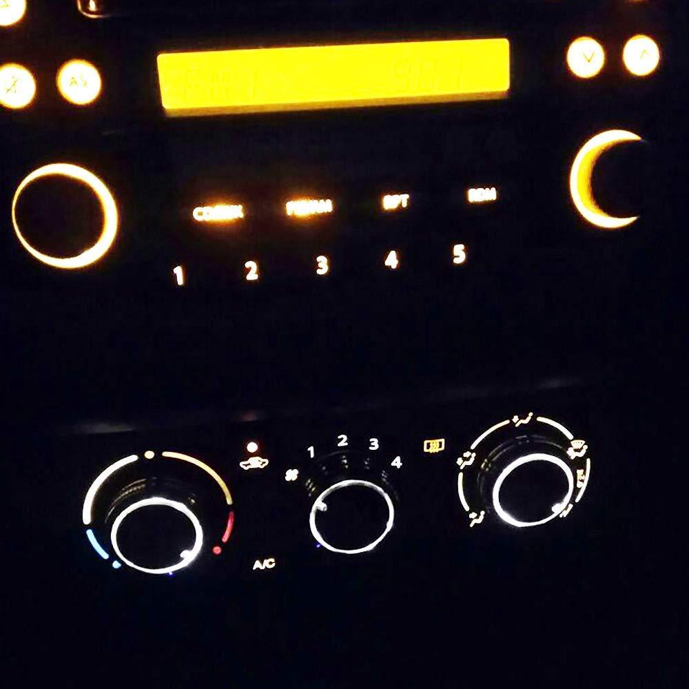 2002-2006 Vela Vitz Yaris Negro, Paquete de 3 Ecloud Shop/®Bot/ón de Perilla de Interruptor de Control de Aire Acondicionado de A//C para VIOS