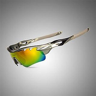 PIGF Ciclismo Occhiali da Sole Sportivi all'aperto Occhiali da Equitazione polarizzati per Biciclette Occhiali da Pesca a Vento Protezione per Gli Occhi