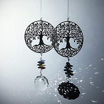 Handmade Hang Rainbow Chakra Crystal Light Suncatcher Crystal Prism Ball Pendant
