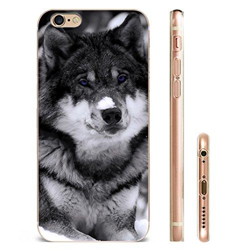 Iphone 5 Hülle SUPER-CASE iphone cover schönes Design mit Wolf Gemaltes iphone Hülle für IPHONE 5/5s/se