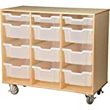 Constructive Playthings WB-390 Science Birch Cart with Write and Wipe Board On the Back, Grade: kindergarten to 6, Brown
