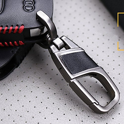 Amazon.com: Genuine Leather fob Key Cover for Jaguar Accessories Keychain fit Xf XE XJ F-PACE XFJ i-pace 4 Freelander 2 Key Chain case Holder Shell Bag ...