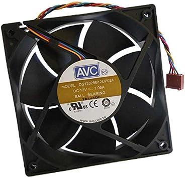 AVC DS12025B12UP024 - Ventilador para PC (120 x 120 x 25 mm, CC 12 ...