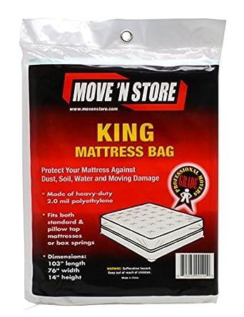 Amazon.com: Plastic King Mattress Moving Bag Cover (10 ...
