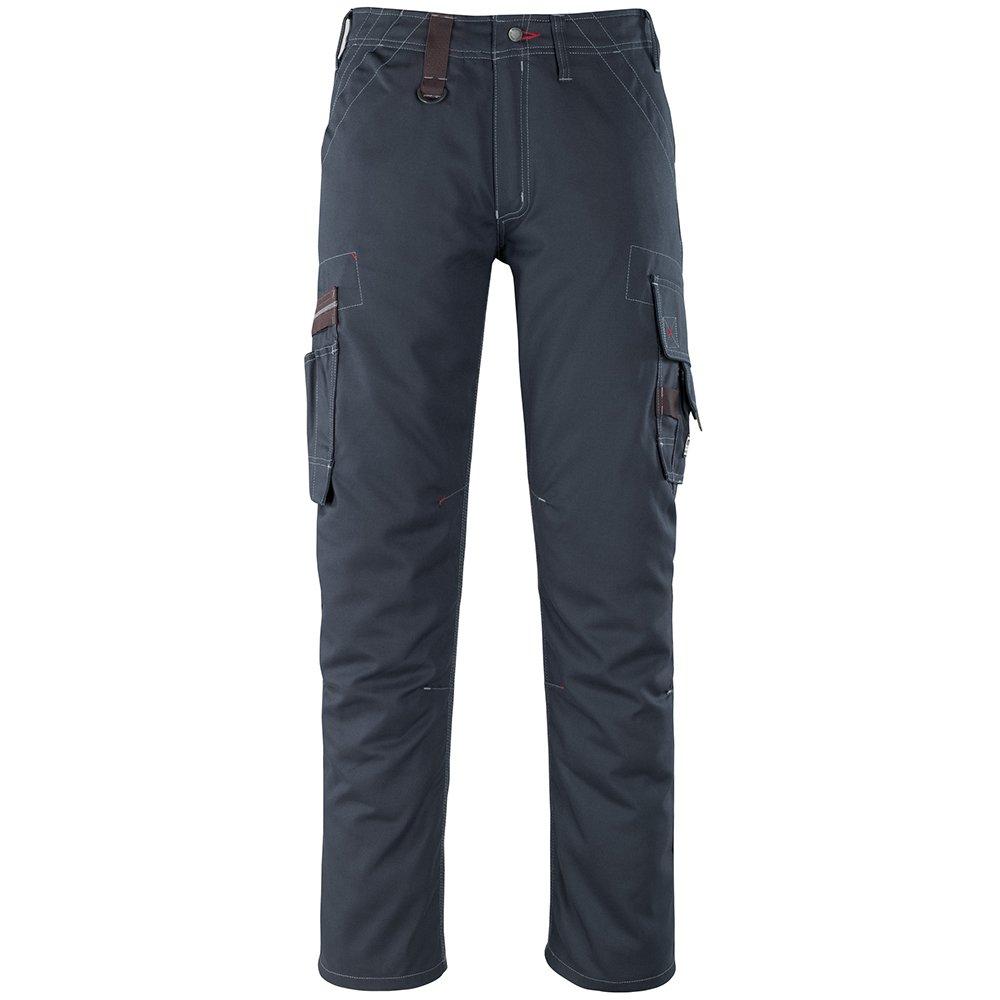 """Mascot 07279-154-010-90C56 Size L90cm/C56 """"Rhodos"""" Service Trousers - Black/Blue"""