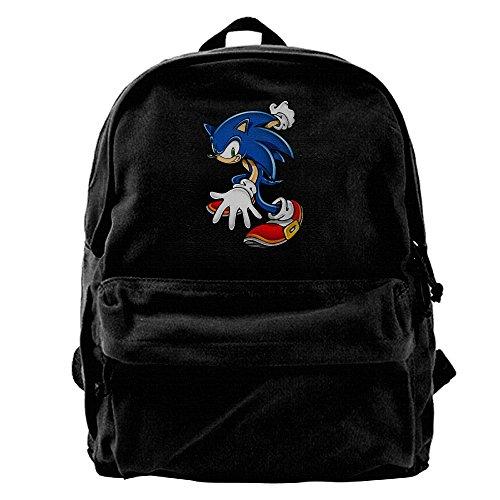 Sonic Art Assets Sonic The Hedgehog 1Canvas Backpack Daypack (Sonic The Hedgehog Basic Party Pack)