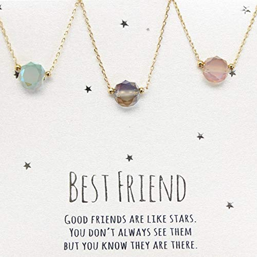 Best friends necklace for 3, BFF Necklace,