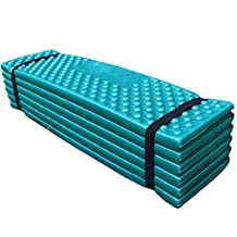 EDTara Outdoor Waterproof Mattress Sleeping Pad Ultralight Foam Camping Mat Easy Folding Mat 190 * 57 * 2 cm Dark green