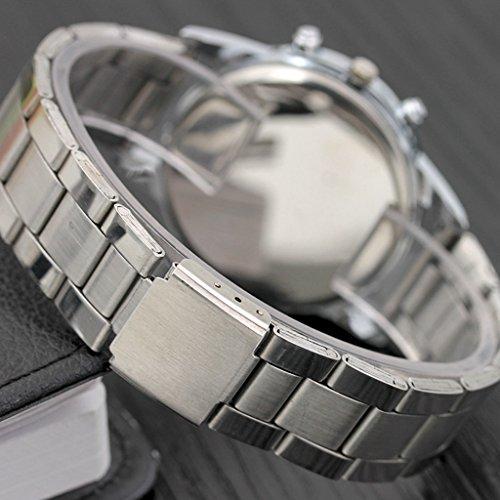 Stainless Steel Watch,Men Watch,Hotkey Men Sport Quartz Hour Wrist Analog Watch,Alloy Band,Alloy Case
