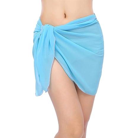 LHSTWQU Falda de Playa para Mujer Vestido de Playa Sarong en ...