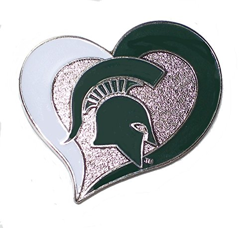 Ncaa Team Logo Pin (Michigan State Spartans Lapel Pin Heart Shape with Team Logo NCAA Licensed)