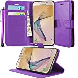GBOS SAMSUNG GALAXY A9 / A9 PRO PURPLE LEATHER CASE COVER WALLET FLIP CASE COVER POUCH FOR SAMSUNG GALAXY A9 / A9 PRO + TOUCH STYLUS PEN