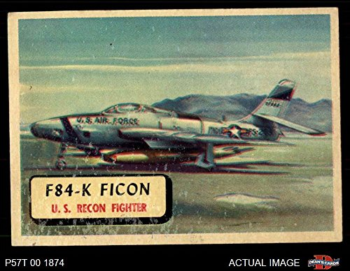 1957 Topps Planes # 23 F84-K Ficon (Card) (Red Back) for sale  Delivered anywhere in USA