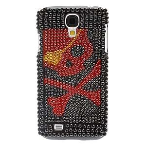 CECT STOCK Rhinestone decoradas caso duro del patrón del cráneo Negro para Samsung i9500 Galaxy S4
