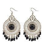 Darkey Wang Woman Fashion Jewelry Temperament Retro National Wind Hollow Fringed Earrings